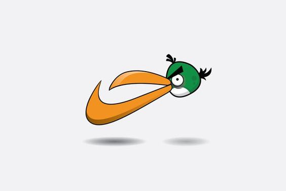 8 Famous Logos as Angry Birds