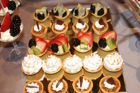 Tartaletas mini para tu mesa de postres vanilayxocolatl - Postres para mesa de dulces ...