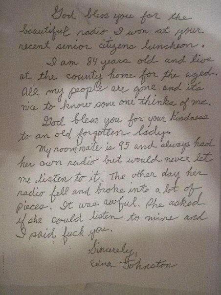 Grandma's Letter granny