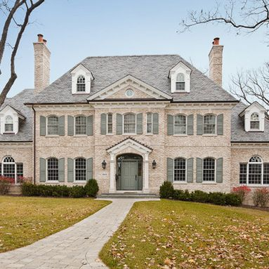 Traditional Georgian Exterior Design Ideas, Pictures, Remodel and Decor
