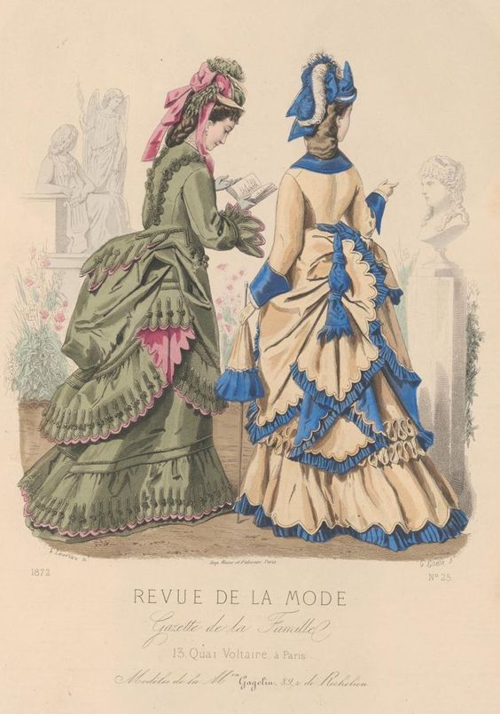 revue de la mode 1872 1872s fashion plates pinterest carousels inspiration and la mode. Black Bedroom Furniture Sets. Home Design Ideas