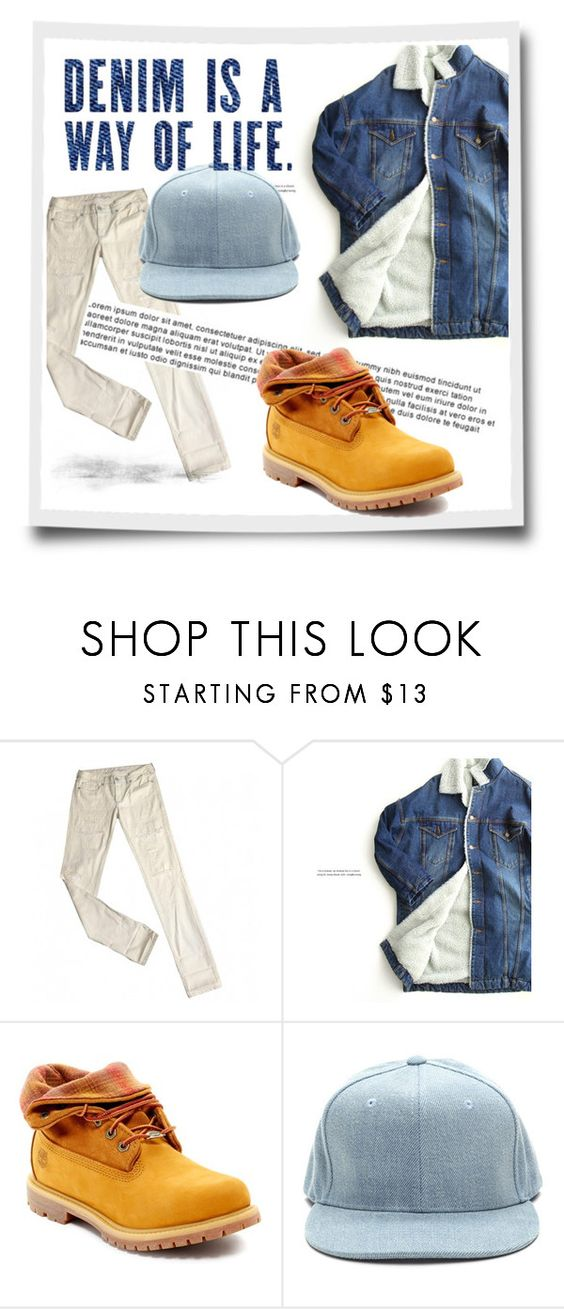 """""""Contest: Denim Fashion"""" by bruh-with-sunglasses ❤ liked on Polyvore featuring Levi's, ssongbyssong and Timberland"""