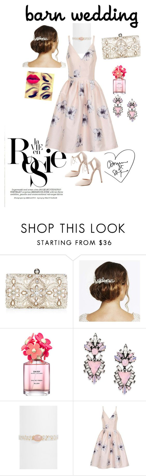"""""""Untitled #34"""" by chiosee ❤ liked on Polyvore featuring Whiteley, Accessorize, Jon Richard, Marc Jacobs, Erickson Beamon, BaubleBar, Chi Chi, Charlotte Russe, bestdressedguest and barnwedding"""