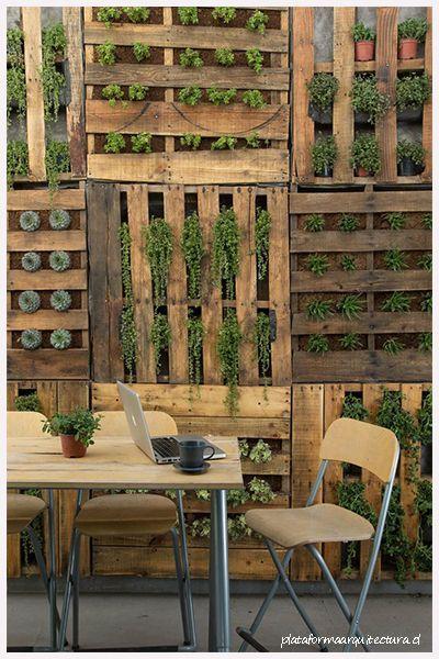 Jardines verticales y palets, la mejor combinación. Tú decides el ...