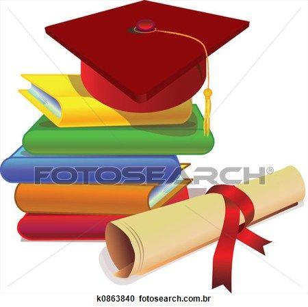 graduação, com, estudo Ampliar Ilustração