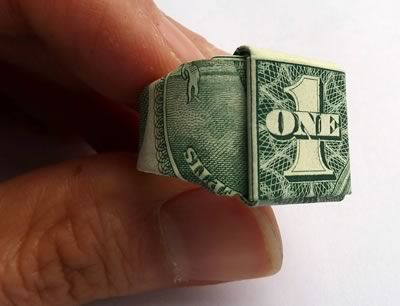 How to Fold a Dollar Bill Ring: