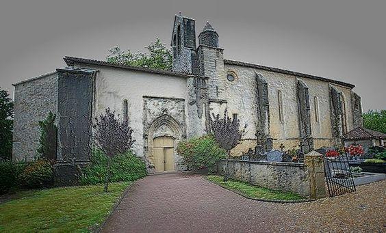 Saint Martin de Hinx - Landes - L'architecture de cette église est imposante, longue et chaotique.... Mais a-t-elle été fortifiée ?