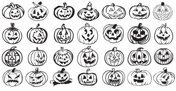 5 Sets de Siluetas vectorizadas de Halloween | Puerto Pixel | Recursos de Diseño