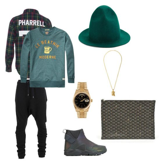 """HIM"" by deekardash ❤ liked on Polyvore featuring LES (ART)ISTS, Balmain, NIKE, Rolex, Goyard and Joshua Sanders"