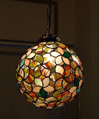 ステンドグラス 作家 ランプ ペンダント ライト 照明 末友 章子さん