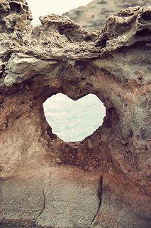 Heart near Nakahele Blowhole in Hawaii