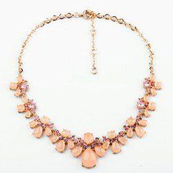 $8.18 Vintage Diamante Colored Faux Gemstone Embellished Women's Necklace