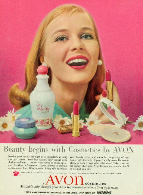 Avon National Teen Ad, 1957-1963