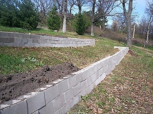 Inexpensive Retaining Wall Ideas Stunning Retaining Wall Block