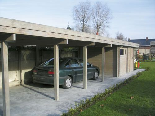 Modern Carport With Storage : Modern carport storage sheds and roof pitch on pinterest