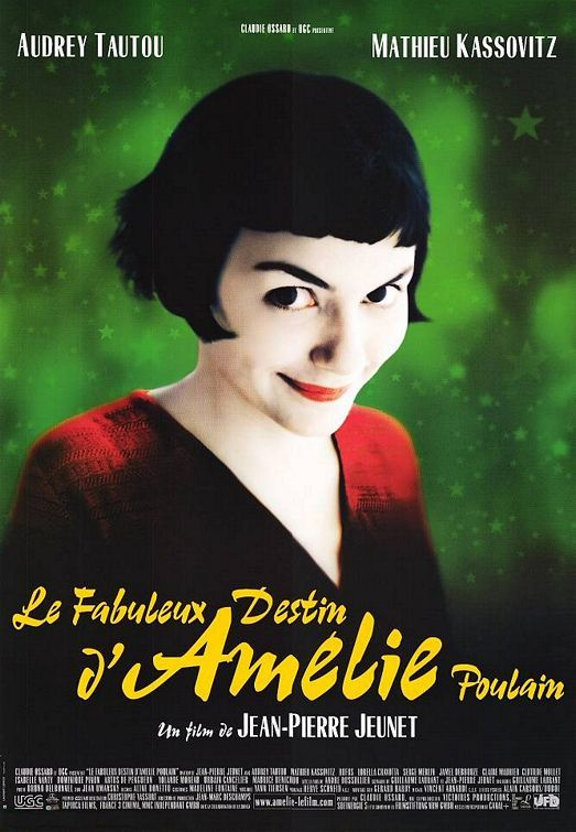 """Amelie (2001). """"On September 3rd 1973, at 6:28pm and 32 seconds, a bluebottle fly capable of 14,670 wing beats a minute landed on Rue St Vincent, Montmartre. At the same moment, on a restaurant terrace nearby, the wind magically made two glasses dance unseen on a tablecloth..."""""""