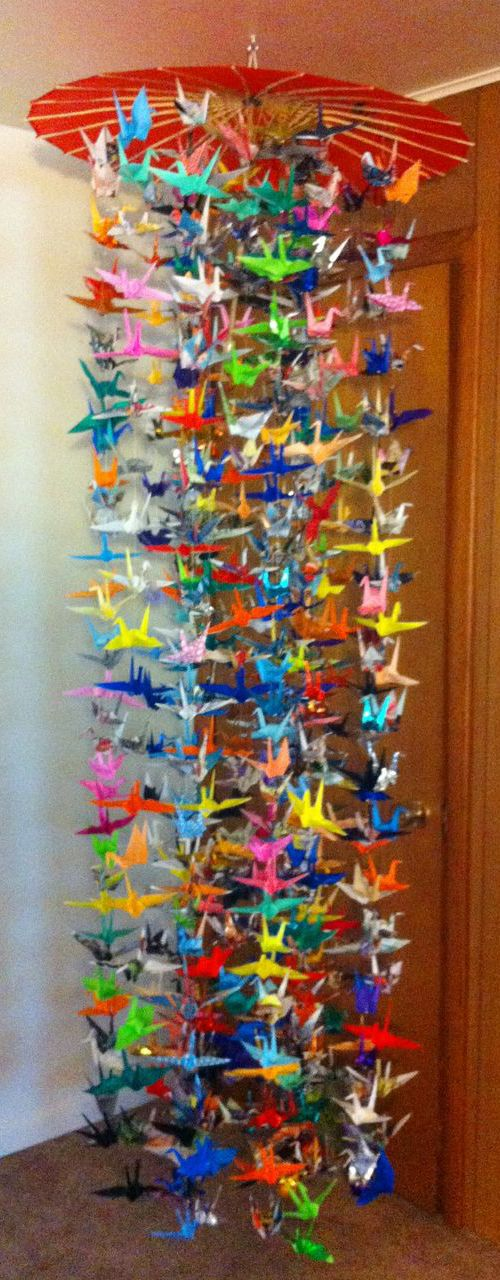 Fold 1000 paper cranes as a sign of peace and send to Hiroshima.