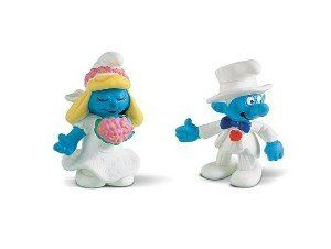 Bride & Groom Wedding SMURF FIGURINE set toy mini cupcake cake topper Schleich http://www.amazon.com/dp/B000X1EQCE/ref=cm_sw_r_pi_dp_xnznvb042MEP8