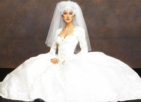 Celine Dion in her Mirella and Steve Gentile wedding dress