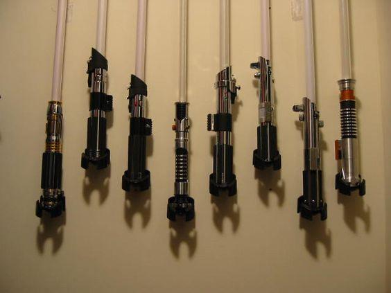 Force FX or Parks Lightsaber vertical Wall Saber Stand Wall mount, Parks and Light saber