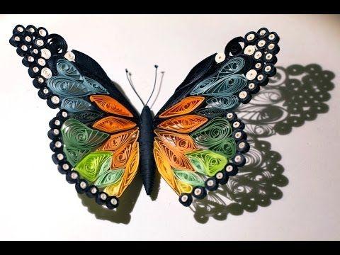 Quilled butterfly papillon quilling mariposa de papel for Tutorial papillon