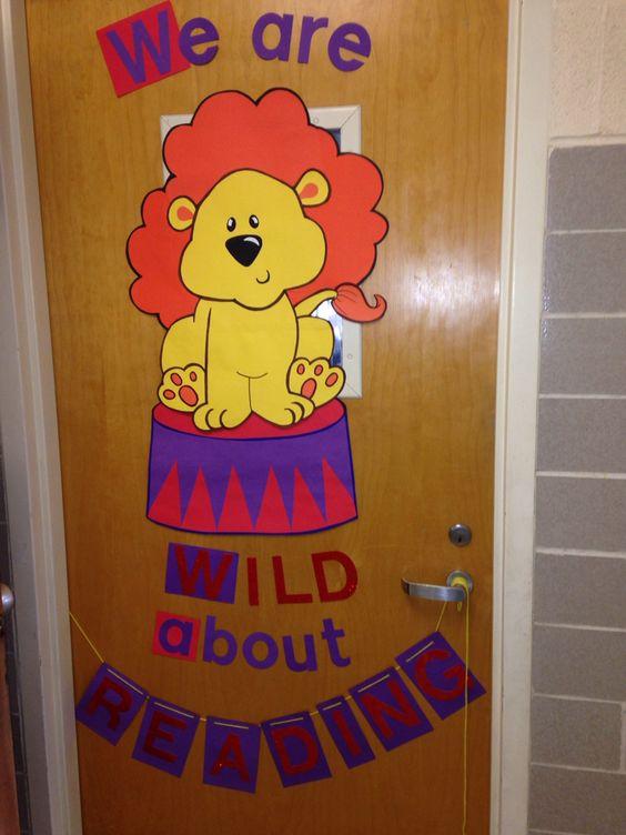 Reading party door decorations