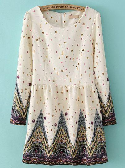 Gemstone printed dress