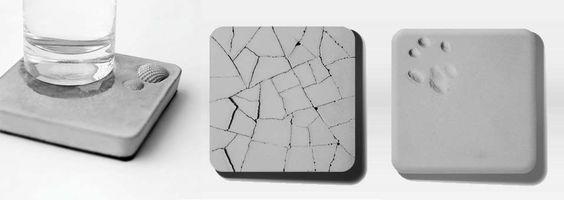Les dessous de verre absorbants en beton