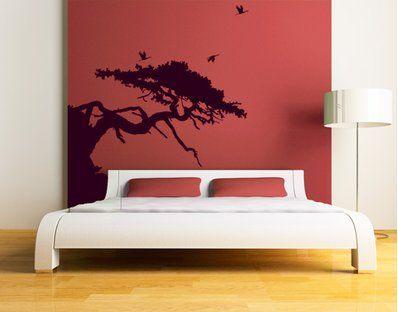 Tatuajes de pared - un color No.CG143 Asian Tree (Al parecer no es un baobab)