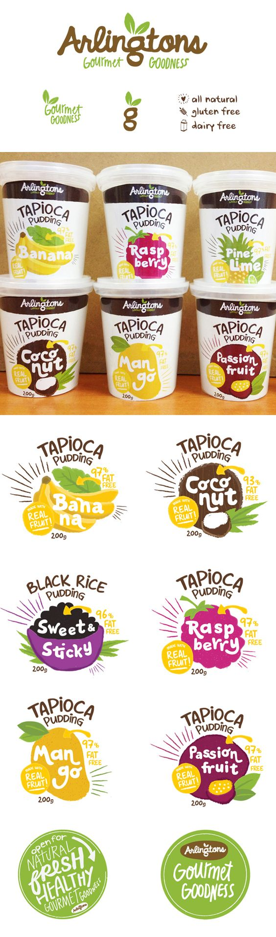 I'm ready for some pudding packaging Kelly Thompson: Design & Illustration | Design Work Life PD