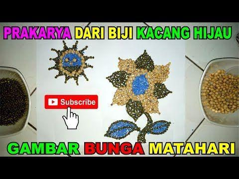 Prakarya Dari Biji Kacang Hijau Gambar Bunga Matahari Youtube Menggambar Bunga Matahari Gambar Bunga Bunga