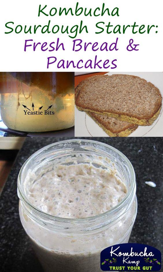Fresh Kombucha Sourdough Bread and Pancakes - Yum!