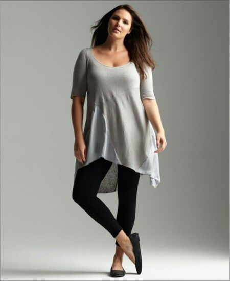 Eileen Fisher is another designer that gets how plus size fashion should fit. Many designers drop the crotch so low in pants and leggings, you wonder why the zipper goes to your knees. Eileen's looks from Boho casual to knock out. I never feel frumpy in her fashions and her textiles smooth over problem areas to showcase our curves.