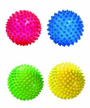 """Amazon.com: Edushape 4"""" See-Me Sensory Balls, Translucent, 4 Pack: Baby"""