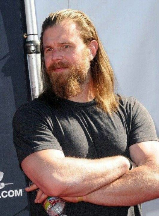 Ryan Hurst, He's definitely the one who got me to admit my strong attraction to long hair and beards. xD