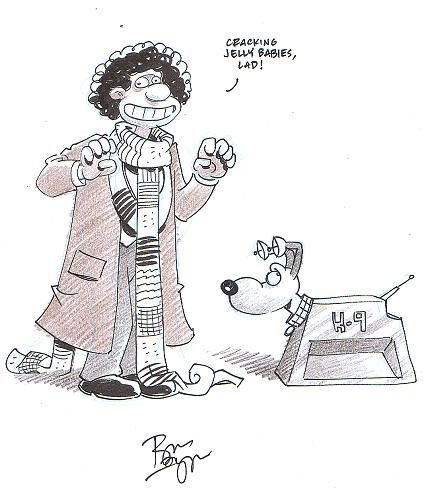 Wallace & Gromit as Fourth Doctor & K9 by Roger Langridge