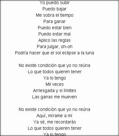 la valentina lyrics english