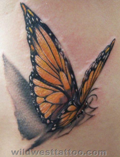 Monarch Butterfly Tattoo Design