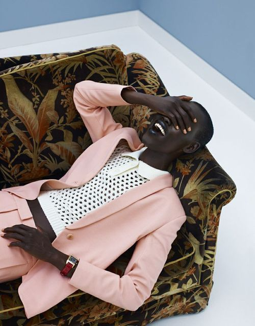 "Great colour and styling. Original credits list this as, ""Grace Bol by Wendelien Daan for Elle Netherlands August 2012."""