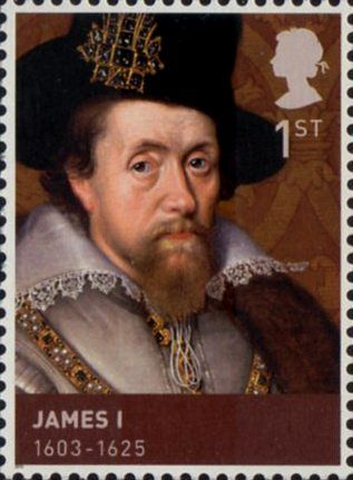 British Stamp - The House of Stuart James I 1603-1625
