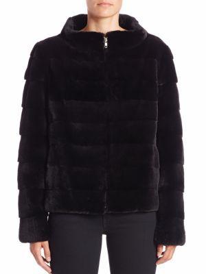 Michael Kors Collection - Horizontal Sheared Mink Fur Jacket