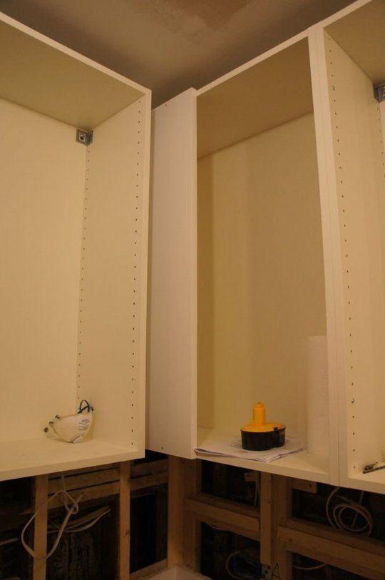 IKEA kitchen cabinet hack for upper cabinet blind corner