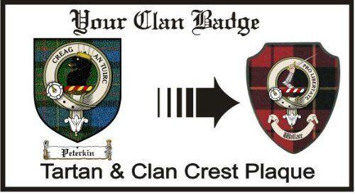 Peterkin Clan Maclaren Clan Badge Plaque . $29.99