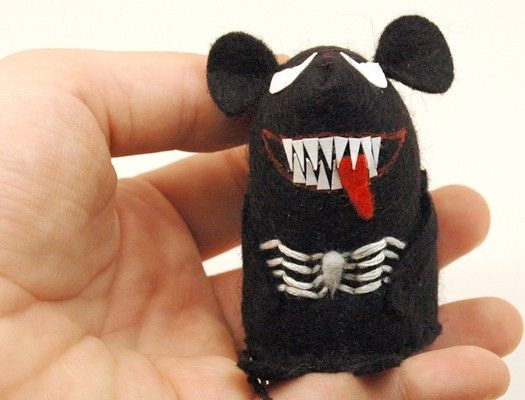 Ratón Venom #fieltro