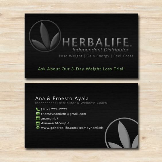 Herbalife Business Card Template by WackyJacquisDesigns on Etsy ...