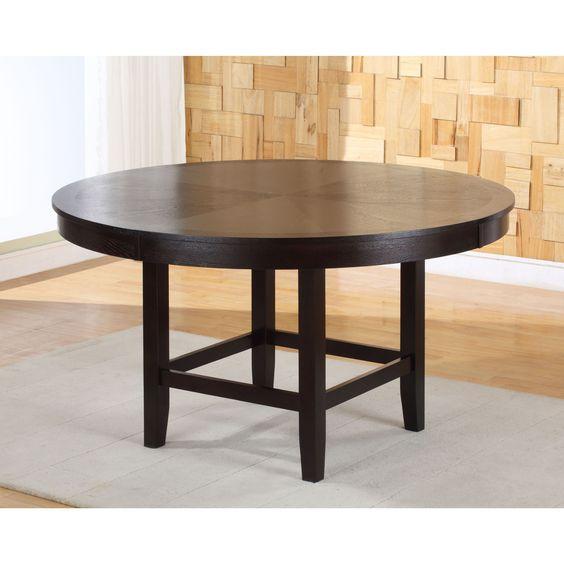 Domusindo Legged Pedestal 54-inch Round Dining Table in Dark