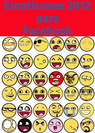 Emoticones para Facebook 2012  El uso de emoticones en las redes sociales nos permite en muchas ocaciones, por no decir en todas, expresar un sentimiento que quiza textualmente nos llevaria varios renglones de escritura, o tal vez el texto no sea del todo