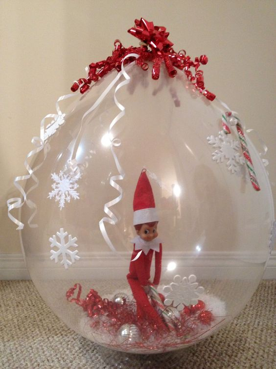 LOVED getting these type of things for Valentine's. Would be cool for Christmas. :) Stuffed the Elf in a balloon this year! Showing up on style!