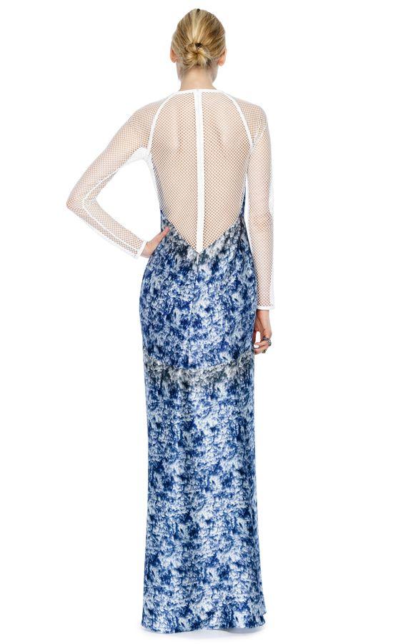 Yigal Azrouel Marble Print Charmeuse Dress - $1,795
