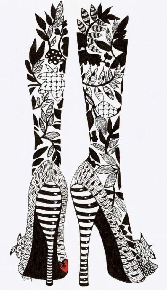 Let's Dance: Kathleen's Art Creations, Whimsical Zentangle